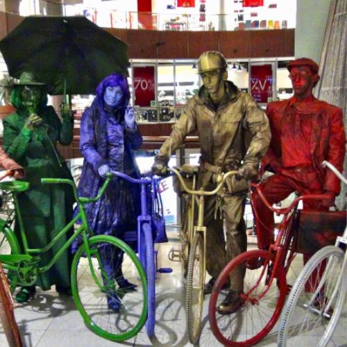 La parade cycliste